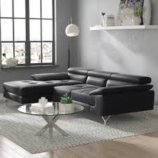 Sofa Sectional Leather Leather Sectional Sofas You Ll Wayfair