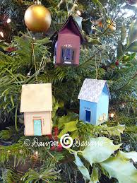 house shaped replica ornaments cards by