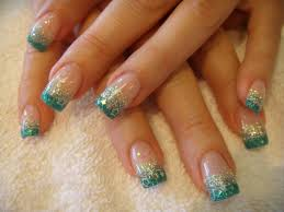 nail art designs gallery turquoise french stars nail art ideas