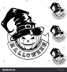 cute jack o lantern clipart vector black white illustration jackolantern halloween stock