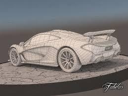mclaren p1 drawing easy 3d model rigged mclaren p1 cgtrader