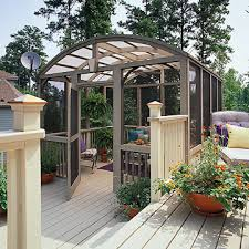 Backyard Screen House by Screened Room On Deck Screened In Porches Decks U0026 Patios