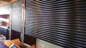 motorized roll down security shutters exterior bar shuters youtube