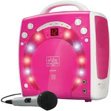 karaoke machine with disco lights karaoke singing machine portable cdsgs player with disco lights