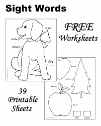 splendid ideas sight word coloring pages kindergarten sight words
