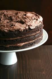 chocolate layer cake with whipped chocolate ganache swerve sweetener