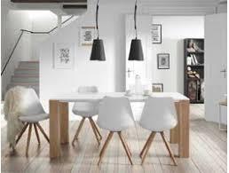 chaises de salle à manger design table salle a manger bois blanc chaise de salle a manger