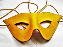 leather mardi gras masks leather mask in yellow suede lace masquerade mask renaissance