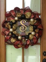 wondrous personalized door wreath decor and holder hanger monogram