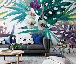 botanical wall mural