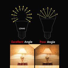 lohas led a19 light bulbs 9 watt 60 watt equivalent led lights