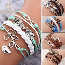 anchor bracelet charm images Vintage wrap leather bracelet milestone keepsakes jpg
