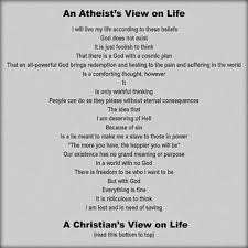 Atheist Vs Christian Meme - creative minority report atheist viewpoint vs christian viewpoint