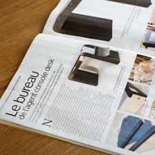 le de bureau design console bureau design fabulous bureau noyer inox by marais with