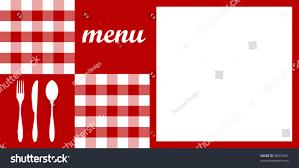 food restaurant menu design cutlery silhouettes stock vector