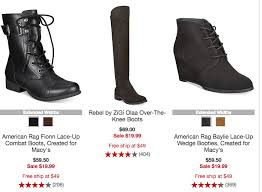 womens boot sale macys macy s s boots 19 99 reg 69 50 living rich with coupons