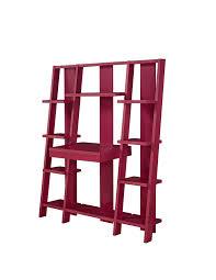 amazon com altra tiffany ladder desk bookcase red kitchen u0026 dining