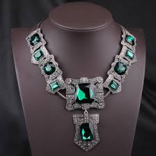 emerald heart pendant necklace images Cheap emerald green statement necklace find emerald green jpg