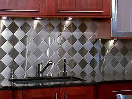 Metal Tile Backsplash  Great Home Decor Elegant Style Metal - Metal tiles backsplash