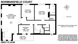 3 Bed Flat For Sale In Normansfield Court 22 Langdon Park
