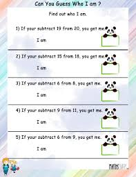 subtraction u2013 grade 1 math worksheets page 3
