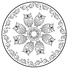 free mandalas page mandala to color animals free owls cute and
