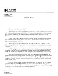 Proposal Letter For New Business by Koch Industries And Network Of Republican Donors Plan Ahead The