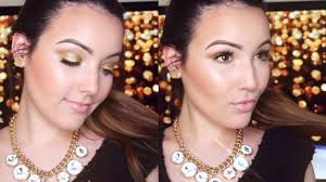 all gold glowing makeup tutorial youtube