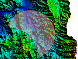 qgis viewshed tutorial viewshed with global mapper geogeek