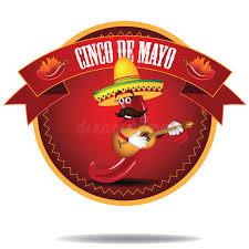 cartoon cinco de mayo cartoon jalapeno cinco de mayo icon stock vector illustration of