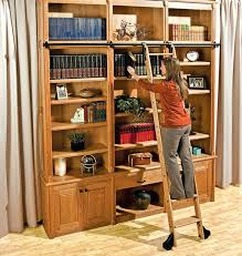 Library Bookcases With Ladder Library Ladder Kit Rolling Ladder Kits Hardware Rolling Interior