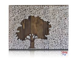 inverse oak tree string art kit tree string art diy kit