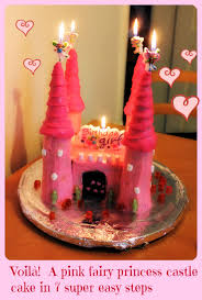 a pink fairy princess castle cake in 7 super easy steps mum on