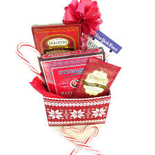 peppermint holiday gift box with book