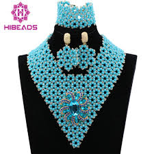 aliexpress bead necklace images Latest silver seed beads indian bridal jewelry sets wedding jpg