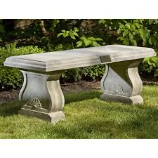 garden benches stone home outdoor decoration