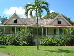 19th century french colonial plantation house at balenbouche st