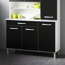 buffet cuisine noir buffet de cuisine 6 portes 120x44x181cm coloris noir