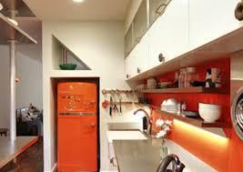 white kitchen cabinets orange walls galley kitchen design ideas 16 gorgeous spaces bob vila