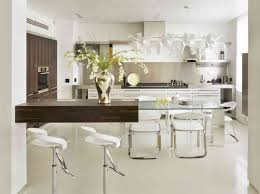 Small Space Kitchen Design Ideas White Kitchen Cabinets Butcher Block Countertops Brown Laminated