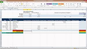 Spreadsheet For Home Budget by Ms Excel Personal Budget Spreadsheets Youtube
