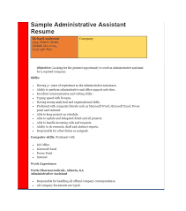 Resume Templates For Administrative Assistants 20 Free Administrative Assistant Resume Samples Template Lab