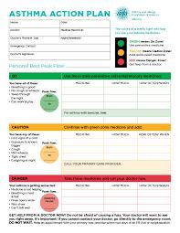 asthma action plan aafa org