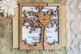 tree rustic wedding invitations rustic wedding invite cutom