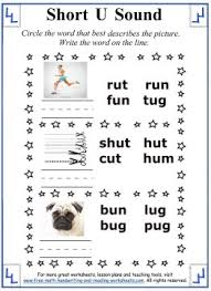 short u sound worksheets circle the word that describes the