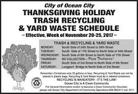 trash recycling and yard waste schedule