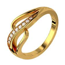 golden rings images images Kaara gold diamond ring gold rings homeshop18 jpg
