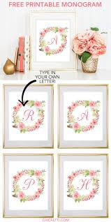 free to print resume builder best 25 free printable monogram ideas on pinterest printable free printable water color floral wreath monogram maker from chicfetti click through to make
