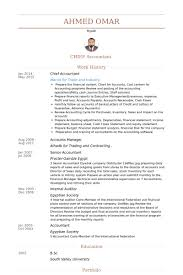 chief accountant chief accountant resume chief accountant cover letter examples