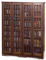 Dvd Storage Cabinets Wood by Family Room Leslie Dame M 954 Double Wide Tall Mission Media